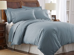 500TC 100% Pima Cotton Pillowcases-King-Blue