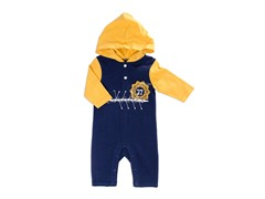 Yellow Yarn Hooded Coverall (3-9M)