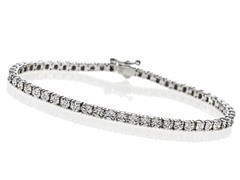 Sterling Silver and Diamond Tennis Bracelet