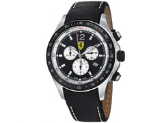 Scuderia Leather, Black / White