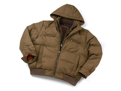 Mayer Puffer Down Jacket w/ Hood - Taupe