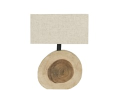 Circular Natural Table Lamp