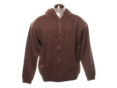 Full Zip-Up Hoodie - Brown