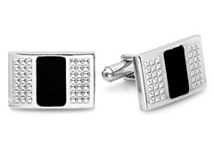 Stainless Steel Cufflinks w/ Black IP
