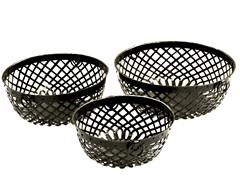 Iron Strap Round Baskets Set of 3