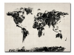 Abstract Map of the World Canvas Art