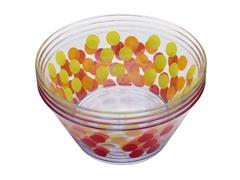 """Assorted Dot Dot 5.75"""" Individual Bowls S/4"""