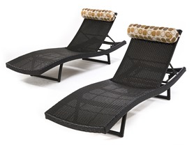 RST Brands Outdoor Woven Wave Loungers, 2 pack