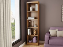 Axess 5-Shelf Narrow Bookcase (4 Colors)