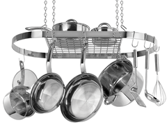 Stainless Steel Pot Rack - Ceiling Mount