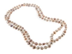 """Pink Mix Freshwater Pearl Necklace, 48"""""""