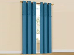 Set of 2: Annecy Grommet Pair Panels Blue