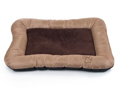 Plush Cozy Pet Dog Bed Tan - 3 Sizes