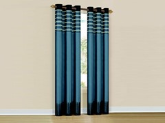 Set of 2: Cityscape Grommet Pair Panel Blue