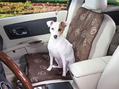 Guardian Gear Pawprint Car Seat Cover - Chocolate