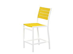 Euro Counter Chair, White/Lemon