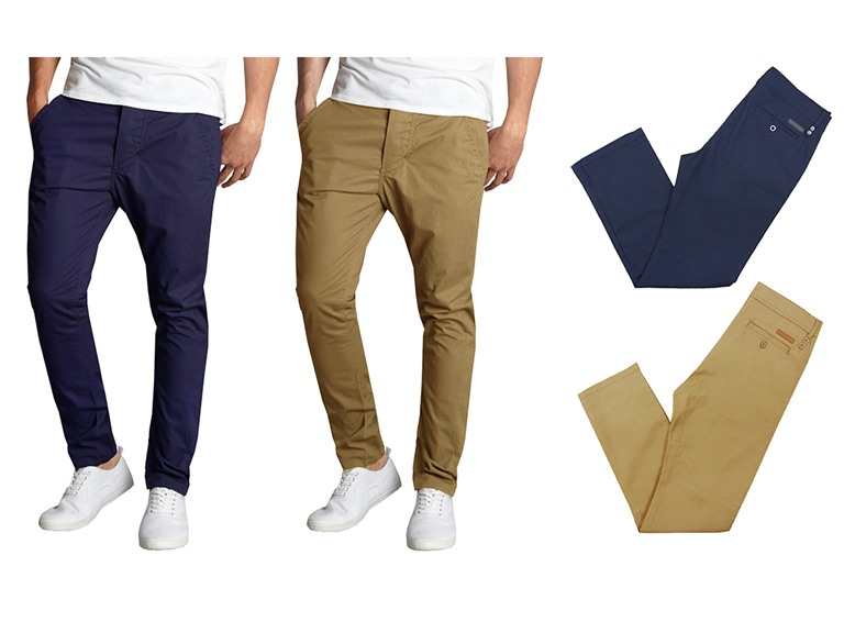 2-Pack Men's Slim Fit Stretch Chinos
