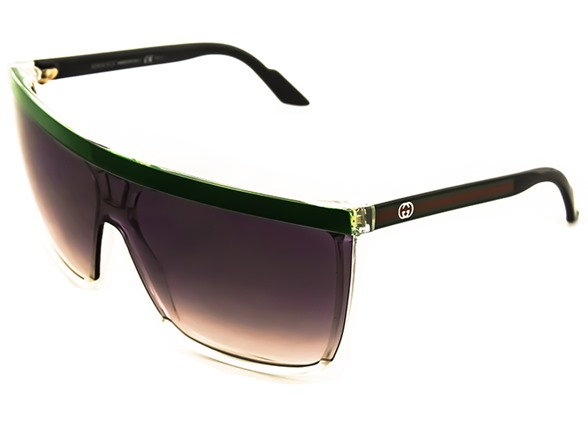 Gucci Sunglasses Crystal Green Grey
