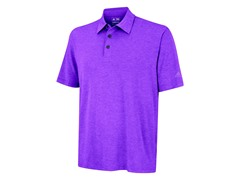 adidas Men's Heathered Polo, Grape