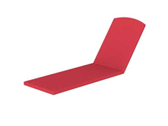 Nautical Stackable Chaise, Logo Red