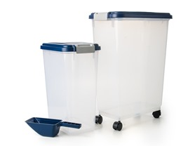 Large Airtight Pet Food Storage Set, 3-Pc
