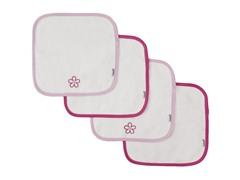 4-Pack Flower Washcloth Set