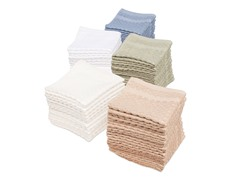 Honeycomb Check 12-Pack Wash Cloths- 5 Colors
