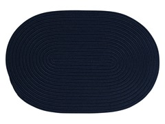 Navy Braided-Texture Rugs