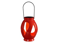 Design Craft Twist Solar Lantern, Red
