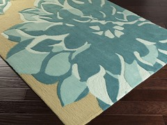 Budding Beige & Sky Blue Rug 5-Sizes