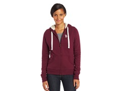 USPA Jrs Classic Fleece Jacket, Merlot