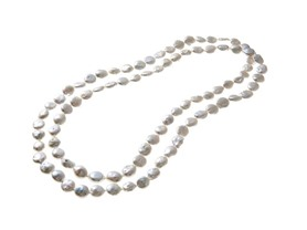 "Akoya Coin Pearl Necklace, 48"" or 54"""