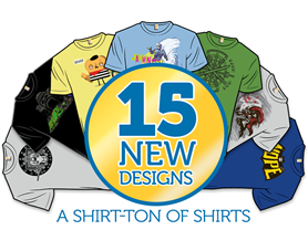 15 NEW DESIGNS: SHIRTSTORM