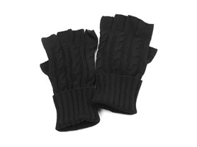 Men's Cable Knit Hat or Gloves, Black