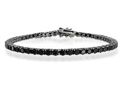 6CTTW Black Simulated Diamond Tennis Bracelet