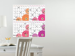 Zinnia 4 Piece Calendar Set