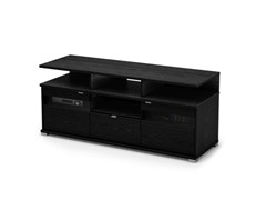"City Life II 60"" TV Stand Black Oak"