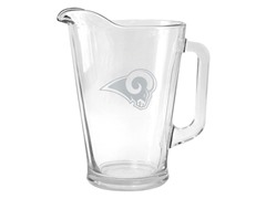 Rams Satin Etched Pitcher