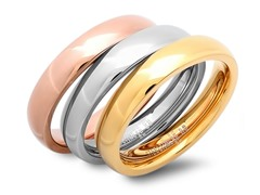 3 Stackable 18kt Plated Rings