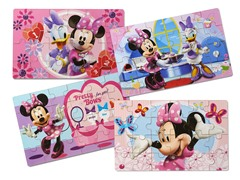 Minnie Bowtique Set of 4 Wood Puzzles