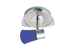 1-Light Satin Ceiling Mount, Blue