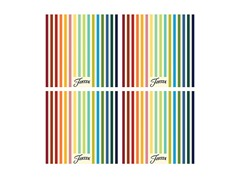 Fiesta Striped Masquerade  Coasters