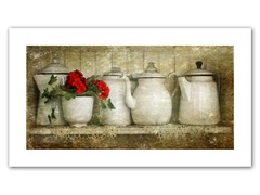Flower with Pots 12x24 Rolled Canvas