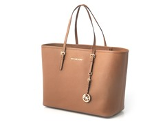 Michael Kors Jet Set Saffiano Med Travel, Brn