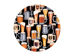 Beer Collage Coasters- Set of 4