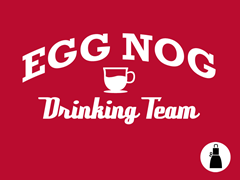 Egg Nog Drinking Team Apron
