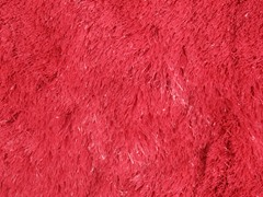 Red Silky Shag Plain  (2 Sizes)