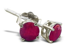 1/2ct Ruby Earrings in Sterling Silver
