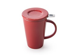 My Friendly Mug - 11oz with Strainer & Lid - Red