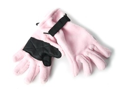 Fleece Gloves for Her - Pink